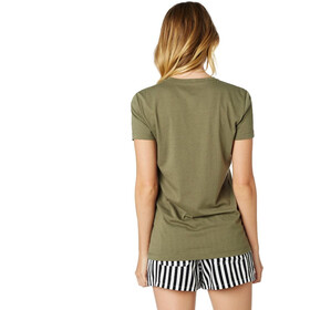 Fox Listless Crew Short Sleeve T-Shirt Women fatigue green
